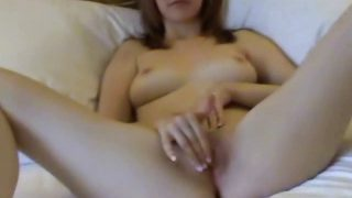 Katie K spreads and fingers pussy and ass